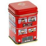 square tin box square tea box 25g tin case London bus tin