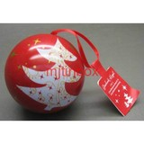 christmas ball tin bauble tin candy box chocolate tin