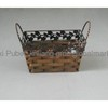 Rectangular Flower Metal Frame Wood Chip Basket