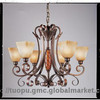 Ancient Style European resin chandelier lamp shade with Hand-paint