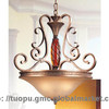 Ancient Style European resin pendant lamp shade with Hand-paint