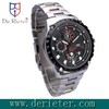 black stainless steel multifuction  wrist Watch For Men