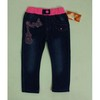 children clothes, Girl's denim jeans with front pocket head cloth