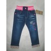Girls denim pants, girls'   clothes , jeans with butterfly pattern