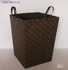 rayon webbing laundry basket with handle