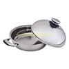 Stainless steel saute pan with steel high dome  lid