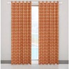 Fashional windows eyelet curtain with printing fabric
