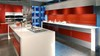 2013 hot-selling red painting kitchen cabinet