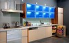2013 new melamine kitchen cabinet with led