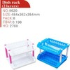 hot selling dish rack of 2 layers with platic foot