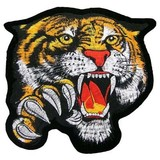 felt patch, Chinese tiger patch, 90% embroidery patch