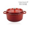 cast iron cookware large cooking pots casserole sets red