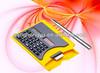 Portable and practical name card case calculator