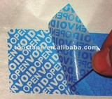 Adhesive Tape - Tamper Evident - Partial Transfer Type