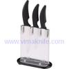 3pcs SS handle ceramic kitchen knife with a peeler set / Acryl holder