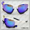 Bicolor black and white open frame sports sunglasses