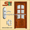 Wooden door wth glass used for bedroom or kitchen