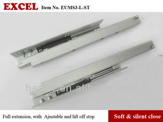 No 46 Full Extension Soft Closing Drawer Slides/concealed