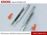 No.23 application for framless cabinet Tandem slide with Soft close/undermount drawer slide/BLUM type tandem drawer slides