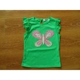 girls 100 % cotton knitted printed sleeveless shirt