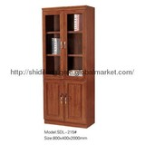office furniture wooden bookcase with glass