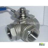 npt 3 way ball valve