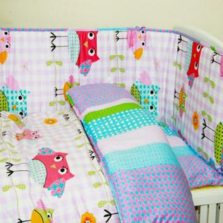 rainbow textile baby bedding    three-piece suit  ,carton bear , frien