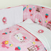 rainbow textile baby bedding    three-piece suit  hello kitty   Smurfs