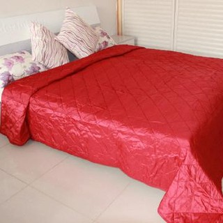 rainbowtextile  polyester, sanded fabric, quilting,bedding skirt,red