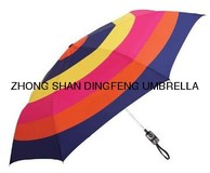 automatic colorful 3 folding promotional umbrella