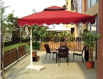 wooden outdoor patio garden umbrella parasol