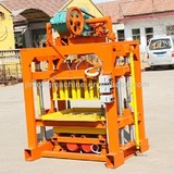 QT4-40 manual hollow block making machine price,FOR family or small factory to do business!from china