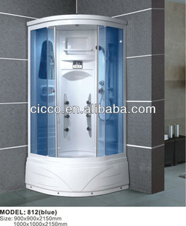 China Product!! self-cleaning tempered glass shower cabin/sauna room shower
