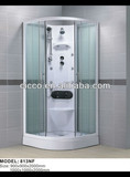 2013 hot sell tempered glass multifunction showers