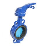 dn100 Aluminum handle High Quality Wafer Butterfly Valve