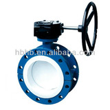 double flange butterfly valve with PTFE seat
