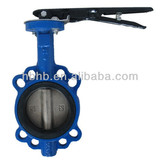 cast iron dn100 handles wafer butterfly valve price