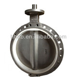 DN700 Stainless Steel Food Wafer Butterfly Valve White EPDM