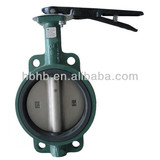 high quality dn150 epdm disc wafer butterfly valve gearbox