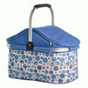 Folding canvas insulated cooler bag with tote