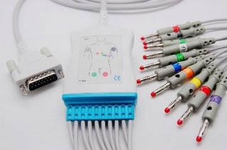 EKG one-piece cable/Schiller/10-lead/Banana/AHA/2.2M+1.2M*4+0.8M*6/070
