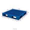 hdpe single faced heavy duty euro type plastic pallet 3 runners pallet