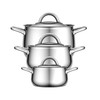 Como C 9-pc. Stainless Steel Cookware Set