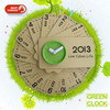 funny paper clock with calendar