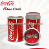 Hotsale cocacole shape can clock for promotion gift popular quartz table clock