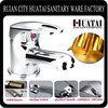 Hot cold single lever brass basin mixer and faucets