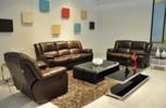 recliner sofa, leather sofa, modern sofa, furniture, living room sofa