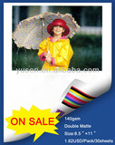 """Factory Sell 8.5""""x11"""" Double Matte Photo Paper 140gsm"""