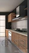 High gloss shiny wood grain UV kitchen cabinet (031)