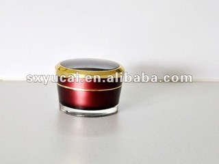 plastic cosmetics cream empty jar